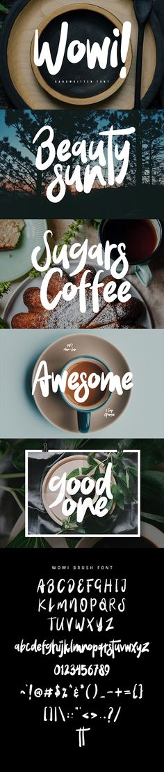 """Buy Wowi Typeface by maulanacreative on GraphicRiver. """"Wowi Typeface"""" is perfectly suited to stationery, logos and much mo. Typeface Font, Calligraphy Fonts, Typography Letters, Graphic Design Fonts, Lettering Design, Hand Lettering, Fancy Fonts, Cool Fonts, Professional Fonts"""