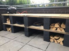Excellent Free of Charge outdoor kitchen cinder block Thoughts Backyard kitchedeborah style and design is very money-making in the property pattern industry. Kitchen Outside, Outdoor Kitchen Bars, Outside Living, Outdoor Living, Outdoor Spaces, Outdoor Decor, Bbq Area, Balcony Design, Cinder