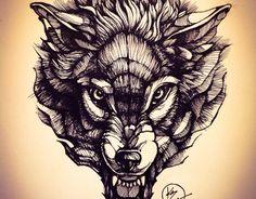 Ideas Skull Art Tattoo Sketches Wolves For 2019 Wolf Face Tattoo, Wolf Tattoos, Henna Tattoo Hand, Knee Tattoo, Tattoo Sketches, Tattoo Drawings, Tattoo Art, Head Tattoos, Sleeve Tattoos