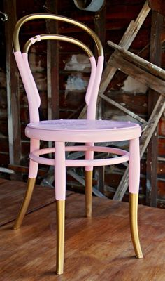 Love Your Space Challenge: Spruce Up Your Seating! Gold dipped chair legs.