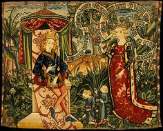 Two Riddles of the Queen of Sheba, ca. 1490-1500. Upper Rheinish. Made in Strasbourg, Upper Rhineland, Germany. The Metropolitan Museum of Art, New York. The Cloisters Collection, 1971 (1971.43) #Cloisters