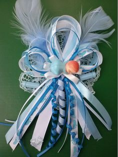 Mom to be Baby Shower Favor for Boy Corsage by LiviWear on Etsy, $6.50