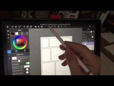 iPad pro demo - creating comic panel borders - YouTube