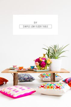 Dining just got a lot cuter with this DIY low floor table! - sugar and cloth