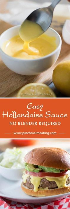 This easy Hollandaise sauce recipe doesn't require a blender, a double boiler, or constant whisking. If you want a thick, creamy, and tangy sauce that's easy to make and an easily-scalable recipe that's a cinch to memorize, give this one a shot! | www.pin
