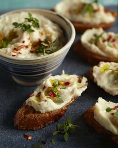 Mashed White Bean Bruschetta
