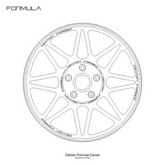 Cekton Wheels Formula Series Model: Carver Type: Single Piece Options: None
