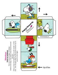 Caja-cubo Snoopy