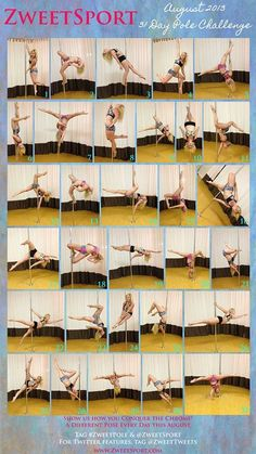 August Pole Challenge... 31 days of pole.    Be sure to post your move each day !   Happy Poling!!