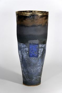 Tall Blue Vase by Robin Welch