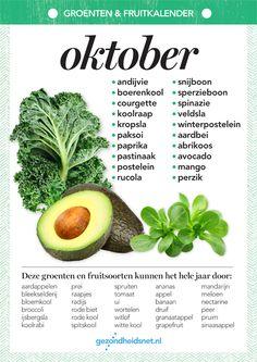 Weet jij niet welke groente en fruit je in oktober het beste op tafel kunt zetten als je een milieubewuste keuze wilt maken? Op Plusonline iedere maand een handige infographic! Print hem uit, plak hem op de koelkast en jij weet precies wat een bewuste keuze is.