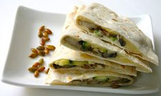 Bake It and Make It with Beth: Zucchini & Mushroom Quesadillas with Pepper Jack Cheese & Toasted Pumpkin Seeds