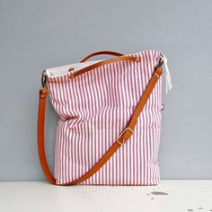 Monday-Morning-Studios-Convertible-Tote-in-Cotton-Ticking-Leather-5-Colors
