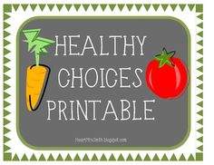 """This freebie comes with a """"Making Healthy Choices"""" sort and worksheet :) This activity is a great way to teach your students how to make healthy choices and the difference between unhealthy and healthy foods. Enjoy!"""