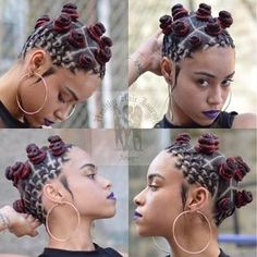 HairBy : Healthy Hair Journey This is for those who love to keep it tribal, African and the BANTU way, yeah! we all know how to get the bantu knot done, but adding some little complicated braids m… click now for more. Bantu Knot Hairstyles, African Braids Hairstyles, Cute Hairstyles, Hairstyles Videos, Shaved Hairstyles, Hairstyles 2016, Beautiful Hairstyles, Black Hairstyles, Black Girl Braids
