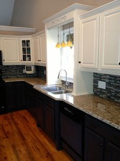 Kitchen Ideas Two Tone Cabinets this two tone transitional kitchen combines light and dark