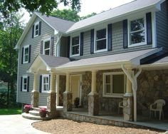 Second Story Addition | Fairfax, VA -- I want this stone around the bottom of the house! Beautiful!