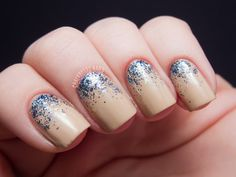 Chalkboard Nails: Nicole by OPI Selena Gomez Glitter Gradients
