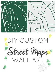 DIY Custom Street Map Wall Art (A Step By Step Tutorial!)