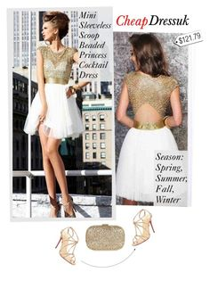 """Coctail Dress (CheapDressuk)"" by sabinakopic ❤ liked on Polyvore featuring Anya Hindmarch and Christian Louboutin"