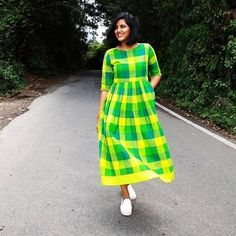 Material & Care Green Pure South Cotton Kurti - Fabric: Pure South CottonSize: L, XL, XXLLength: 46 Shipping TimeAll the orders will be processed Cotton Frocks, Cotton Dresses, Gingham Dress, Plaid Dress, Kurti Neck Designs, Blouse Designs, Salwar Designs, Dress Designs, Nice Dresses