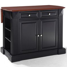 Amberly Bar-Top Drop-Leaf Kitchen Island Drop Leaf Kitchen Island, Kitchen Island Cart, Kitchen Tops, New Kitchen, Shoe Storage Drawers, Pull Out Drawers, Dining Furniture, New Furniture, French Country Kitchens