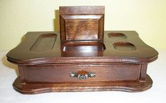 Vintage Masculine Men's Dresser Valet Caddy With Built In Drawer