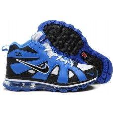 Nike air max griffeys fury 2012 white/black/blue shoes