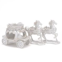 Horse and Carriage..wedding ceremony, wedding reception, Happily Ever After wedding theme or a girl's Disney birthday party...Fairy Tale..Disney Wedding Ideas..