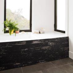 """Timeline TL00956 5 1/2""""W x 11/32""""D x 47 1/2""""L, Skinnies Wood Panel, Black Black (6 Pieces)"""