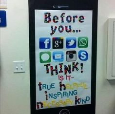 bulletin board idea for the second door close to my office