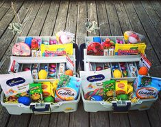 Easter basket for a boyfriend gift ideas pinterest easter instead of grabbing the same old wicker easter basket from the store switch it up negle