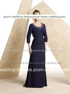 Navy Blue Mother Of The Bride Dresses - US$125.08