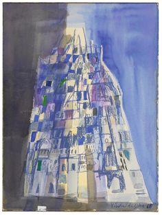 Untitled by Maria Helena Vieira da Silva – issyparis Tachisme, Wax Crayons, City Painting, Art Moderne, Canvas Board, Paint Designs, Impressionist, Art Boards, Modern Art