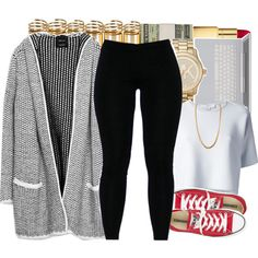 A fashion look from November 2014 featuring Zara cardigans, Alexander Wang tops and Converse sneakers. Browse and shop related looks.