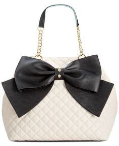 Betsey Johnson Trap Tote --- I have this bag ive gotten so many compliments!! And the bag is huge so roomy