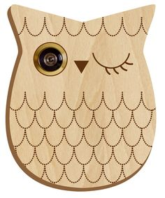 Peephole cover. So cute! They have more designs besides the owl. (lauren)