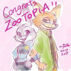 #Congrats #zootopia #oscars #academy #awards #juddy #juddyhopps #nickwilde #nick #disney #disneyart #illustration #illust #ディズニー #ズートピア #ジュディ #ニック #アカデミー賞 #オスカー #イラストレーション #おめでとう