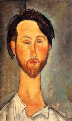 Leopold Zbrorowski - Modigliani, Amedeo (Italian, 1884 - Fine Art Reproductions, Oil Painting Reproductions - Art for Sale at Galerie Dada Amedeo Modigliani, Modigliani Portraits, Modigliani Paintings, Arte Fashion, Italian Painters, Oil Painting Reproductions, Art Moderne, Famous Artists, Oeuvre D'art