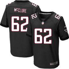 Nike NFL Atlanta Falcons #62 Todd McClure Elite Black Alternate Jersey Sale