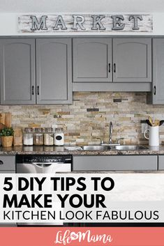 As we plan our kitchen remodel on a low-budget, I did some research to help all of YOU find the best DIY tips in one place to make your kitchen look fabulous! #kitchenDIY #kitchen #reno #DIY