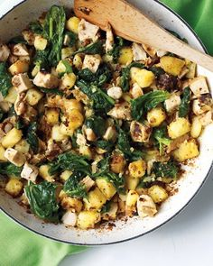 Chicken, Spinach, and Potato Hash by Martha Stewart is #whatsfordinner