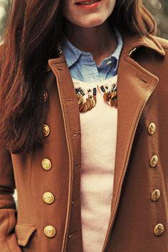 Pea Coat, Layers l wantering.com