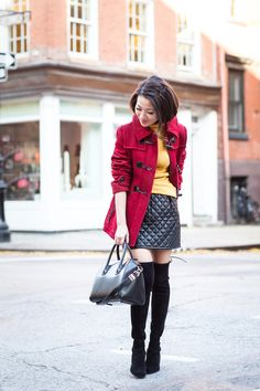 Fall Colors :: Red duffle coat