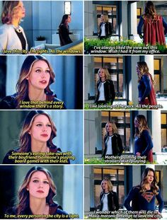 """""""Every person in the city is a light"""" - Kara and Cat #Supergirl"""