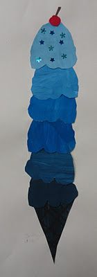 Great big tints and shades ice cream cones.  This looks like an excellent art ed blog too.