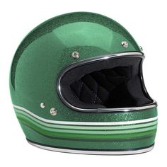 Biltwell Gringo Ltd Editon Spectrum Helmet - Gang Green MegaFlake | Full Face Motorcycle Helmets | FREE UK delivery - The Cafe Racer