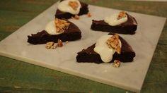 Flourless Chocolate Cake with Peanut Brittle Recipe | The Chew - ABC.com