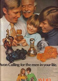 vintage Avon cologne bottle ad Next door neighbor sold avon and we had everyone of these... lol