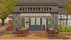 Ruby's Home Design 璐比的房屋: Sims3 Cafe Croissant 咖啡與可頌